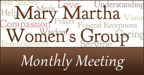 Mary Martha Monthly Meeting