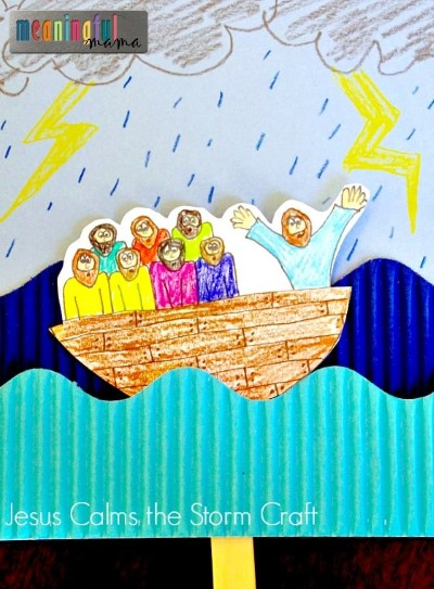 Jesus Calms the Storm Craft