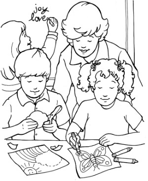hearts full of joy coloring page