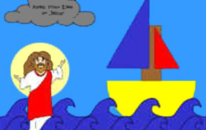 Jesus Walks On Water Craft