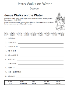 Jesus Walks on Water Decoder Puzzle