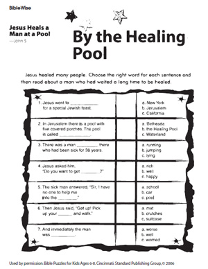 by healing pool