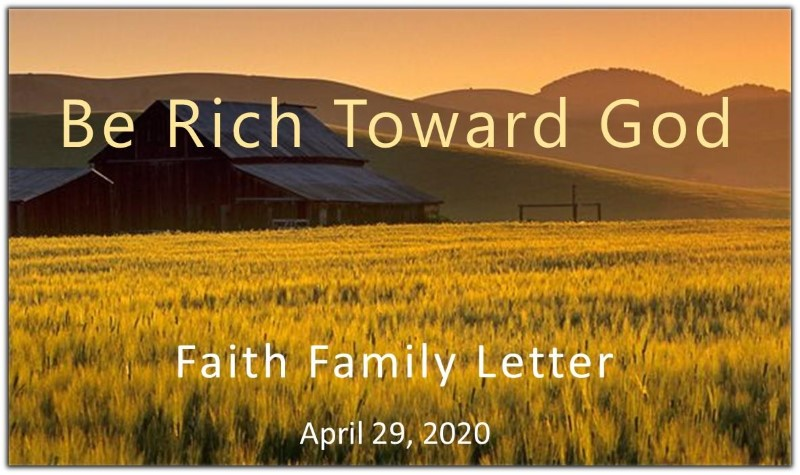 Be Rich Toward God