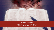 Wednesday Morning Bible Study 10 AM